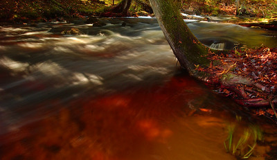 Rock River on Fire with Color - Naubinway, Michigan