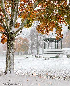 October Snow on Band Stand