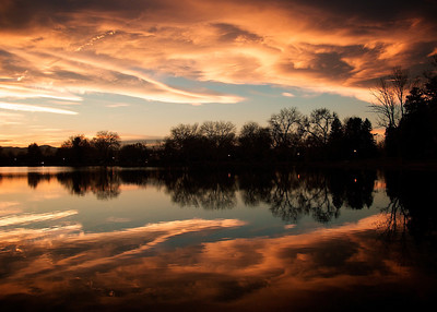 Sunset at Smith Lake, Wash Park, Denver, Colorado