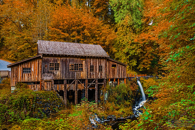 """Autumn at the Mill,"" Autumn at Cedar Creek Grist Mill, Washington"
