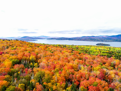 Foliage on Rangeley Lake