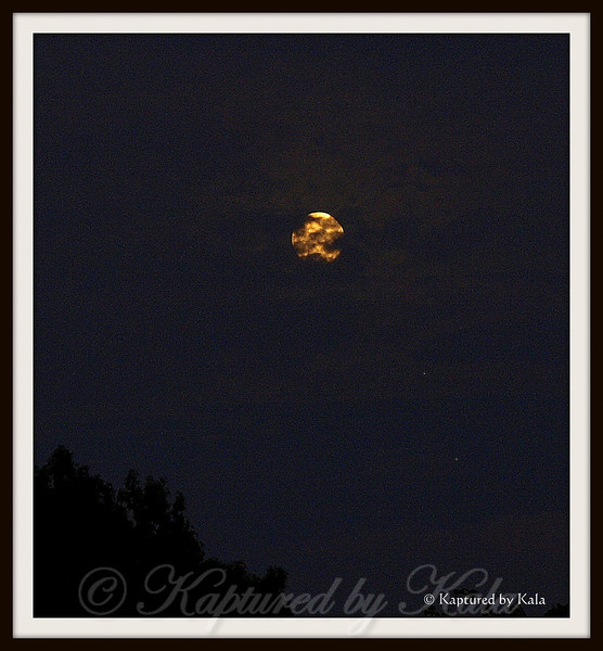 Harvest Moon 2013 with Clouds