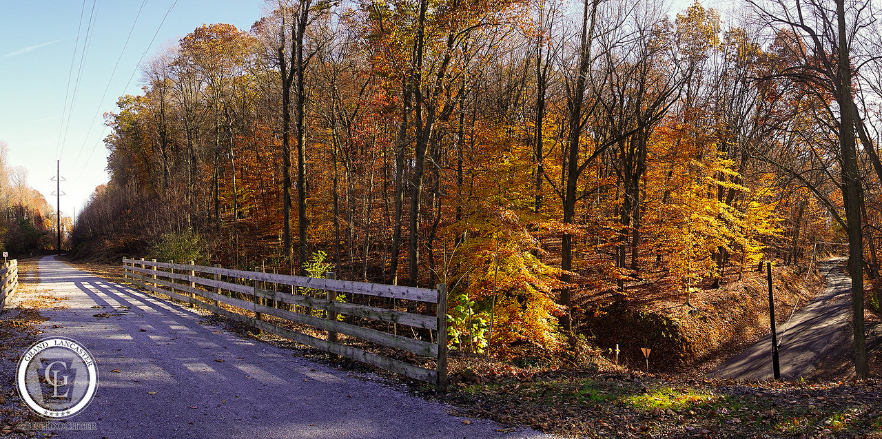 1103 - Autumn 2016 - ELGT Trail over Hollow Road Pano (p)
