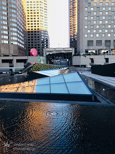 Water feature between the opera house and Hyatt