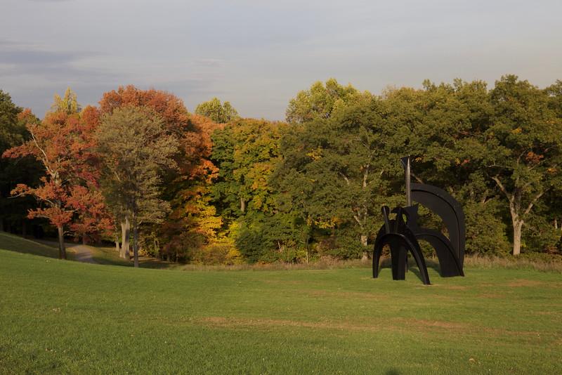 One of several sculptures by Alexander Calder