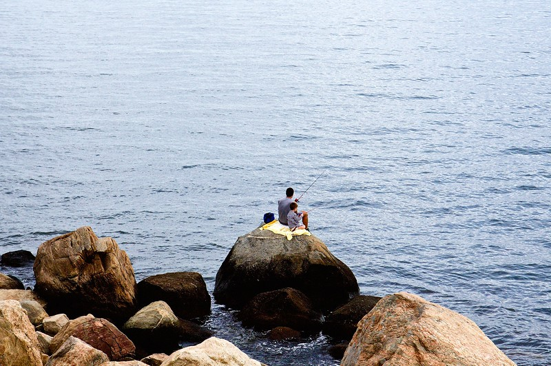 Solitude at Hammonasset Beach Park, CT.