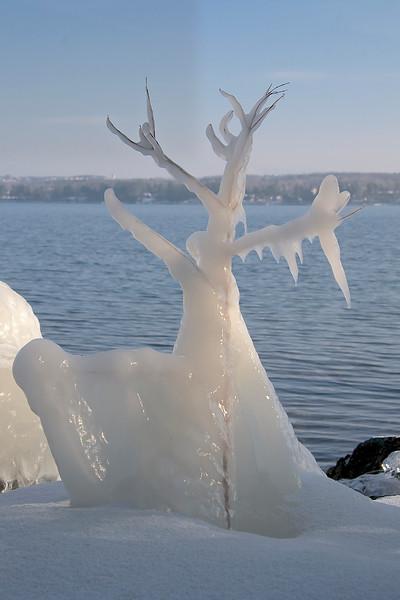 ice sculpture, Lake Champlain, VT