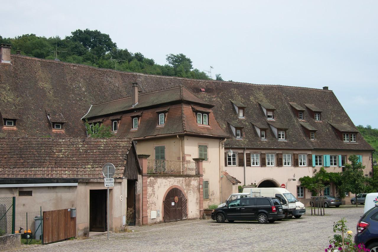 Andlau, la cour de l'Abbaye