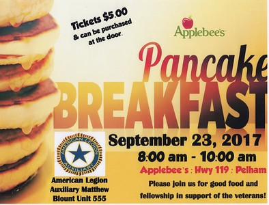 Auxiliary Unit 555 Pancake Breakfast 9-23-17