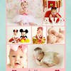 Avaoneyearcollage - 16x20 Storyboard Template, Blog Board Template - Pink Floral and Stripe