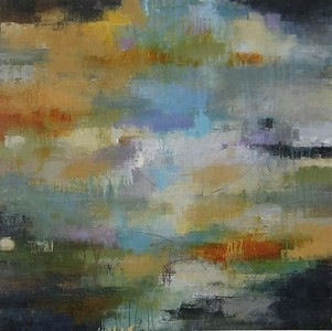Sudden Clouburst-Jardine, 40x40 canvas-S
