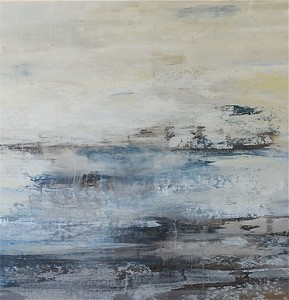 """***SOLD*** On the Stormy Seas-Jardine, 40""""x40"""" painting on canvas.  AVAILABLE AS COMMISSION"""