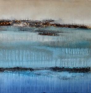 """Floating Earth=Jardine, 40""""x40' on canvas"""