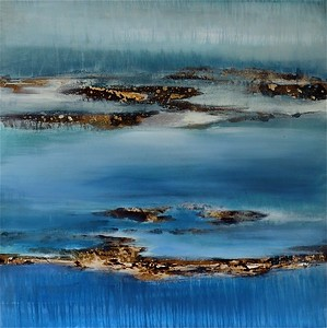 """The Cresting Wave-Jardine, 48""""x48"""" painting on canvas"""