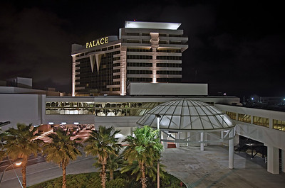 Night shot of the Palace Casino in Biloxi, MS.