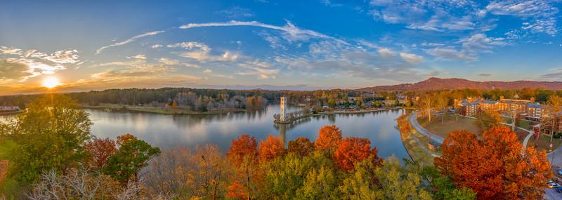 Autumn Sunset Over Furman Lake