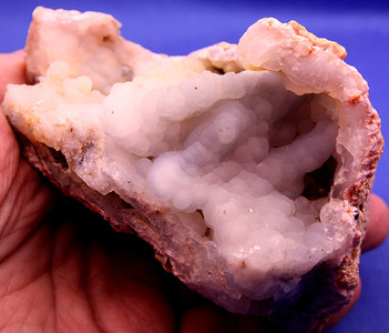 Blue and Tan Calcite Geode