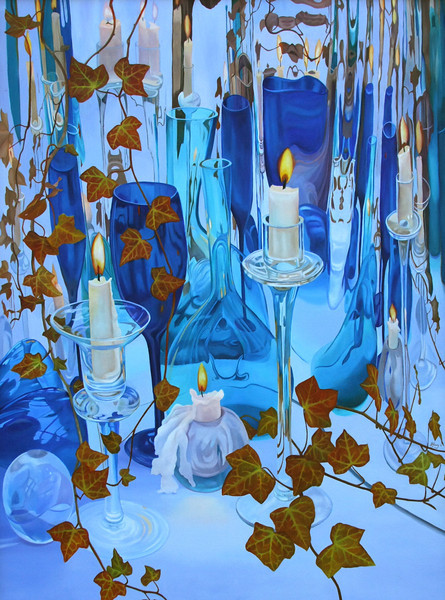 """CRYSTAL CAVE"" ~ 54"" x 40"" ~ $7500"