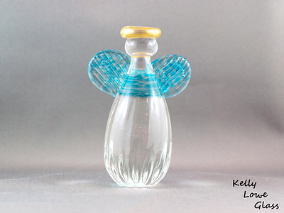 Glass Angel - Large - Light Blue  Height: Approx 12cm Across the Wings: Approx 8.5cm Depth: Approx 5cm Weight: Approx 472g.  Please note: as each piece begins its life as molten glass and is blown/sculpted by hand into the final product, individual pieces might have slight variations in size and/or appearance. Please rest assured however that the standard of quality is quite high, and no substandard pieces will be sold.