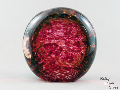 "Magma Ball - Picture 2/2  Widest Point: 10cm (3.94"") Height: 9.5cm (3.75"") Depth: 7cm (2.76"") Weight: Approx 1100g (2.43 lbs)  The pictures included here are of the specific piece for sale."