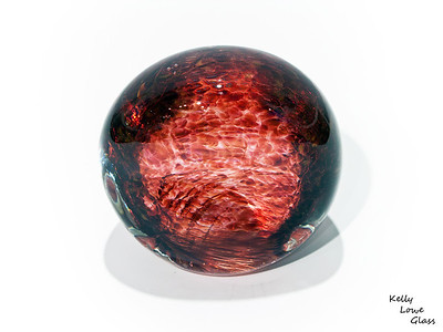 "Magma Ball - Picture 1/2  Widest Point: 10cm (3.94"") Height: 9.5cm (3.75"") Depth: 7cm (2.76"") Weight: Approx 1100g (2.43 lbs)  The pictures included here are of the specific piece for sale."