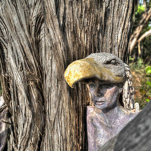 Crow Woman Sculpture in Avalon (full view)