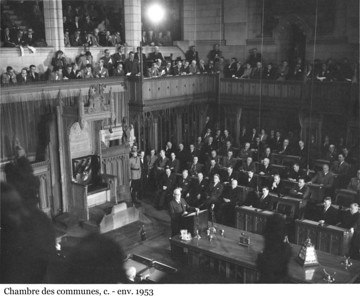 House of Commons Chamber - Chambre des communes, c. - env. 1953