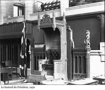 The Speaker's Chair - Le fauteuil du Président, 1930
