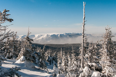 Location: ChicChocs Mountains, Quebec, Canada The Mont Albert from the Mt. Xalibu summit.