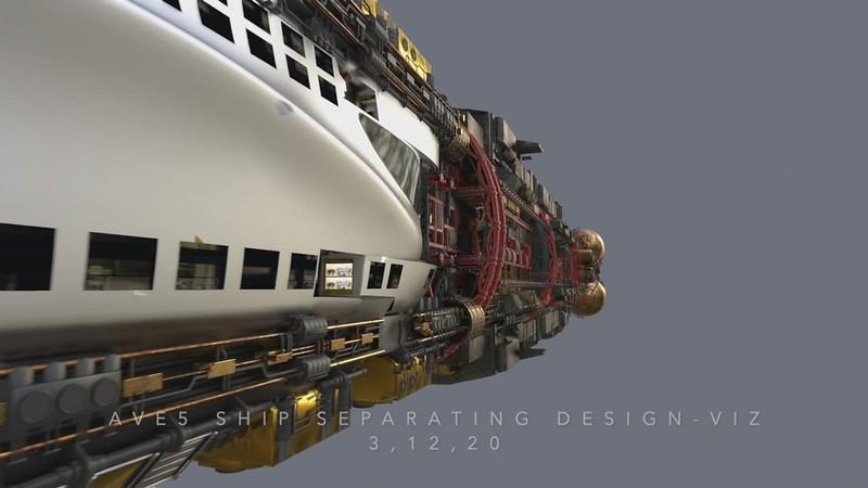 Avenue 5 separation animation VIDEO