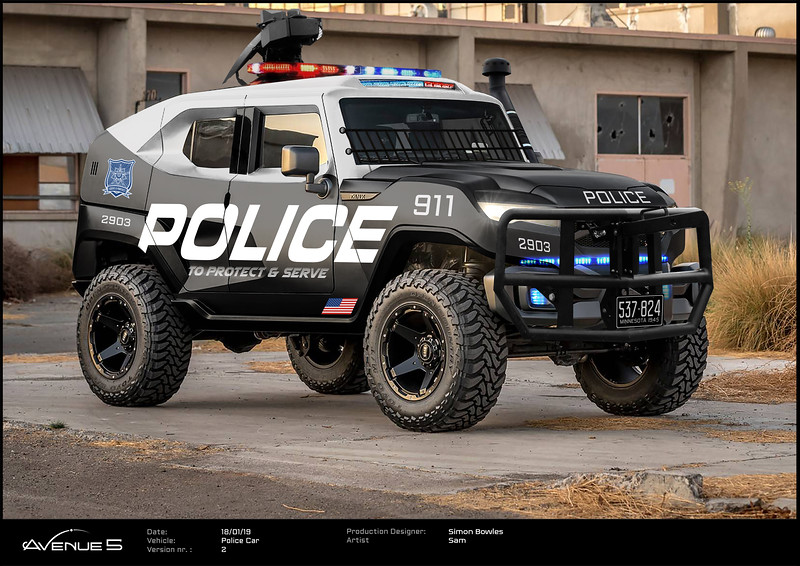 Armed Police Vehicle on Earth