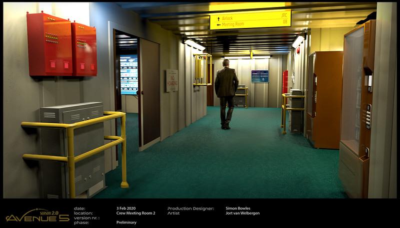 Crew Corridor - into Data Room