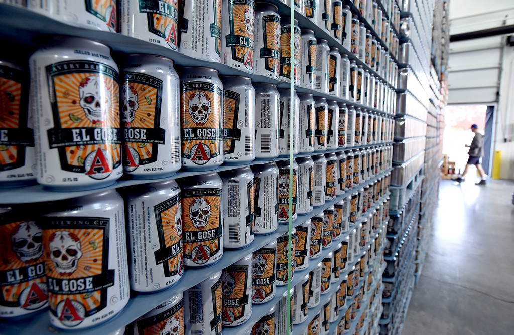 . Cans for El Gose, a German-style ale with lime and sea salt,  at Avery Brewery in Boulder. Cliff Grassmick  Staff Photographer October 6, 2017