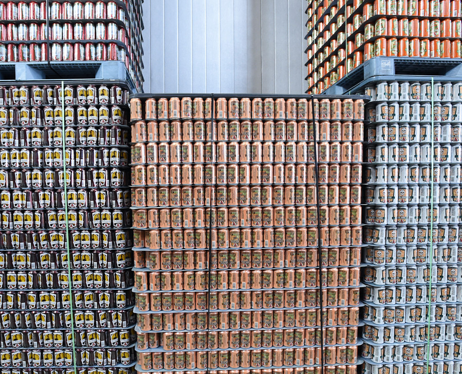 . A wall of colorful cans  at Avery Brewery in Boulder. Cliff Grassmick  Staff Photographer October 6, 2017