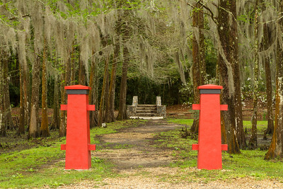 Side entrance to Buddha's Garden in Avery Island's Jungle Gardens.