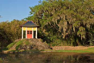 The Buddha Temple in Avery Island's Jungle Gardens.