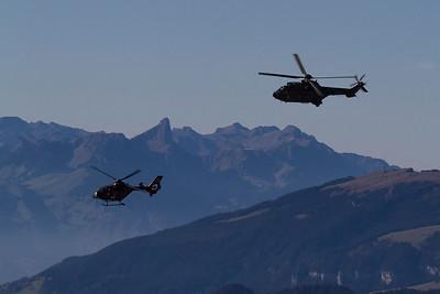 Helikopter der Schweizer Armee