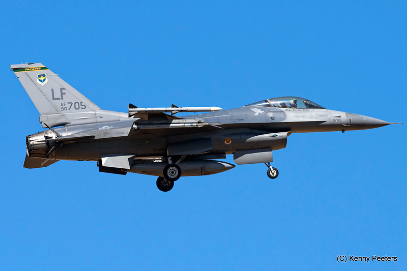 "90-0705 F-16C USAF  310th FS  ""Tophats"""