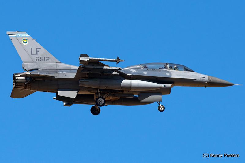 """85-1512  F-16D USAF  F-16D USAF 62 FS  """"Spike War Dawgs"""""""
