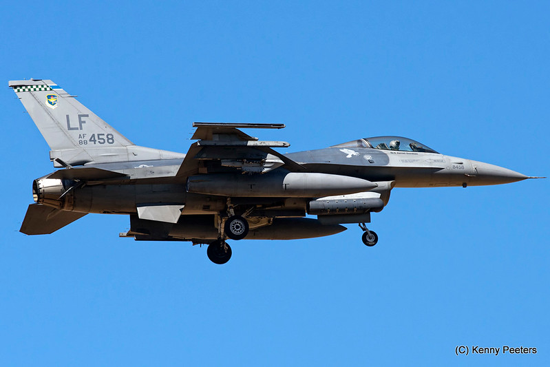 "88-0458  F-16C USAF  308th FS ""Emerald Knights"""