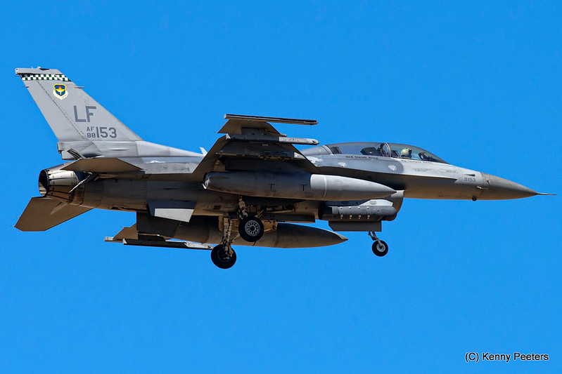 "88-0153  F-16D USAF  308th FS  ""Emerald Knights"""