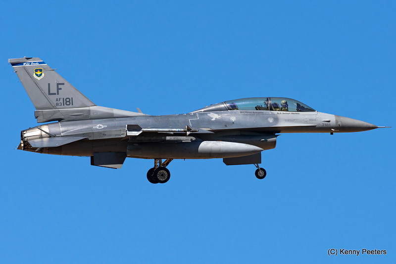 "83-1181  F-16D USAF 309th FS  ""Wild Ducks"""