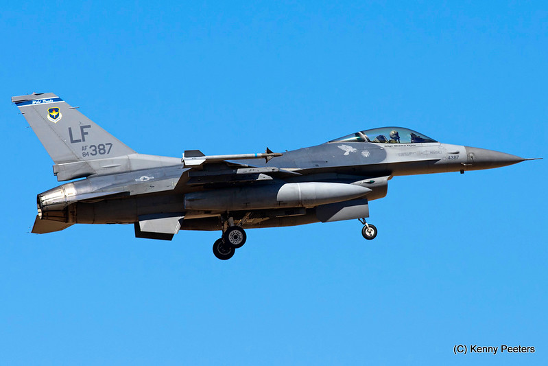 "84-1387  F-16C USAF 309th FS  ""Wild Ducks"""