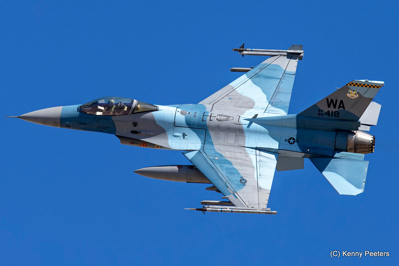 85-1418 F-16C USAF 64th AGRS