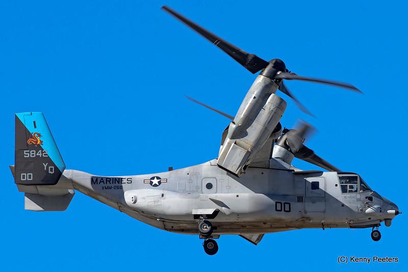 "165842  MV-22B  MARINES  CAG  cs ""VMM-268 Red Dragons"""