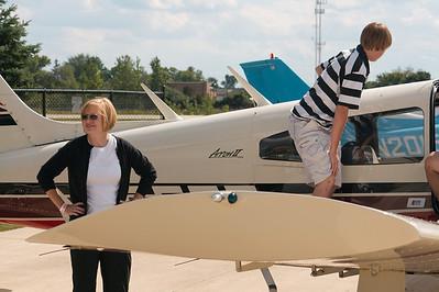 Cheri and Alex boarding