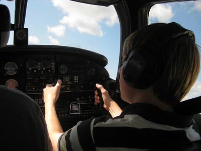 Alex at the controls