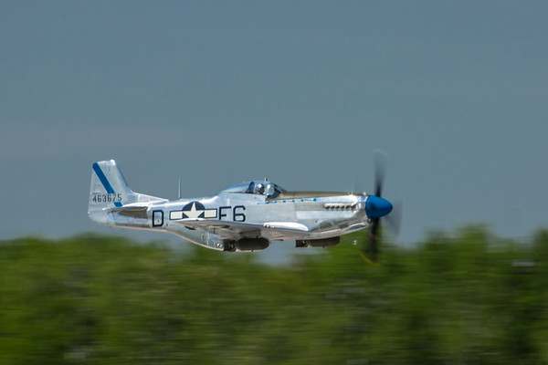 "North American P-51D ""Sierra Sue""--low pass."