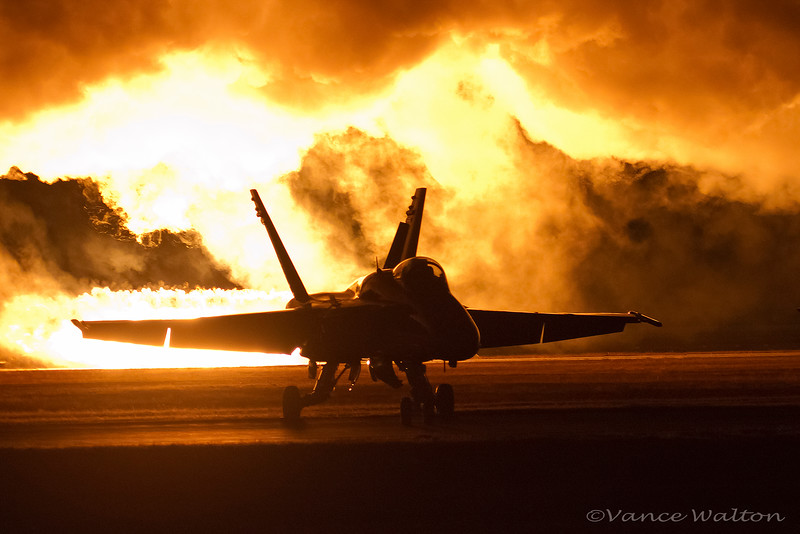 Wall Of Pyrotechnics Silhouette The Flightline