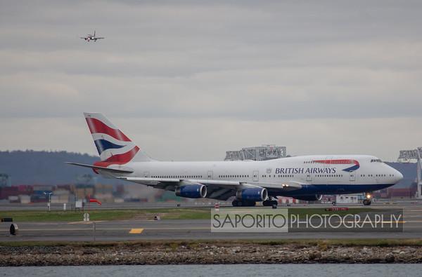 British Airways 747-400 - taxiing - BOS